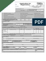 Bir Form 1903 - Registration Corp (Blank)