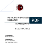 Electric Bike Research Report