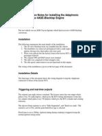 Adaptronic Blacktop Installation Notes