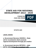 Subventions State Aid for Regional Development in Romania 2014 - 2020 (Gd 332, 807)