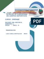 Tecnicas de Subdrenaje en Campos Deportivos
