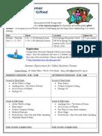gage summer program flyer