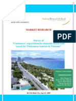 Market Research on Customer Expectations on Domestic Beach Tour Travel in Vietnam