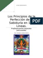 Sutra de Los Principios de La Perfección de La Sabiduría en 150 Líneas