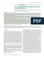 Intraarticular Injection in Osteoarthritis