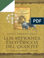 Peradejordi-Los Refranes Esotericos Del Quijote