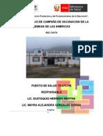 PLAN DE TRABAJO DE LA SEMANA DE VACUNACION DE LAS AMERICAS