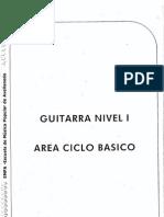 E.M.P.A. - Guitarra, Nivel 1 - Área Ciclo Básico (FO.ba.)