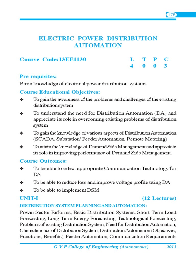 Electric Power Distribution Automation | Electric Power Distribution