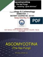Ascomycotina Class PPT 2014