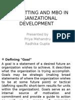 Goal Setting and Mbo in Organizational Development