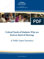 critical needs of students who are deaf or hard of hearing