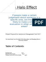 The Halo Effect Research Proposal