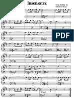 Insensatez Melodia Cifrada