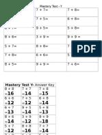 mastery test - y