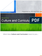 Cultural and Curriculum