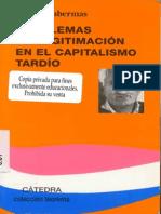 Habermas - Problemas de Legitimacion en El Capitalismo Tardio