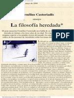 Castoriadis - La Filosofía Heredada