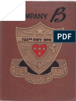 722nd Railway Operating Battalion Co.b Unit History