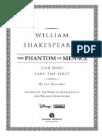William Shakespeare's The Phantom of Menace