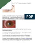 Los Ciegos Que Vuelven A Ver Y Otras Anomalias Oculares