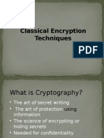 2.0 Classical Encryption Techniques