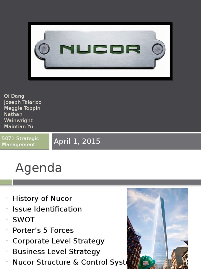 nucor organizational structure
