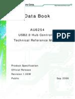 USB 2.0 AU6254 Datasheet