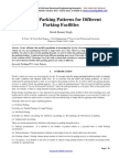 Study of Parking Patterns For Different Parking Facilities