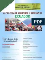 La Politica de Seguridad y Defensa de Ecuador