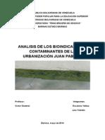 Analisis de Los Bioindicadores de La Urbanización Juan Pablo