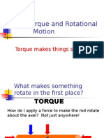 Torque and Rotational motion