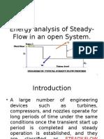 Energy Analysis-Open System