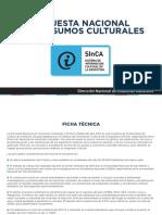 Encuesta Nacional de Consumos Culturales