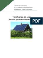 Trabajo de Tc paneles solares