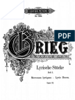 Lyric Pieces. GRIEG (Opus12)