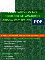 Procesos Inflamatorios Gingivales.