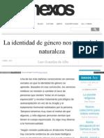 La Identidad de Género Nos Viene de La Naturaleza - Luis González de Alba