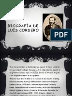 Biografía de Luís Cordero