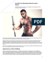 The Ultimate Bulking Guide for Maximum Muscle Gains – Written by Chris Martinez