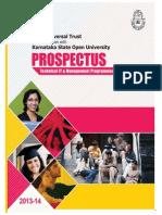 KSOU Prospectus Semester Mode 2013 14 Sem