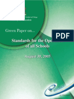 Standards for Operations of Schools