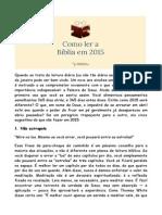 Como Ler a Bíblia Em 2015