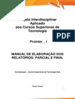 Prointer I 2015 1 Online TECS Manual de Elaboracao