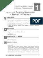 Sesión 01 Series de Taylor y Maclaurin y Analisis de Errores
