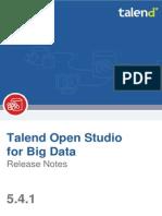 TalendOpenStudio BigData ReleaseNotes 5.4.1 En