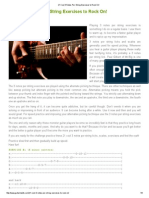 21 Cool 3 Notes-Per-String Exercises to Rock on!
