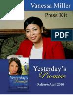 Vanessa Miller's Press Kit for Yesterday's Promises