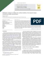 Analisis de Infiltracion Para Evaluar La Estabilidad de La Superfice de Dos Capas de Talud Considerando Un Registro de Precipitacion
