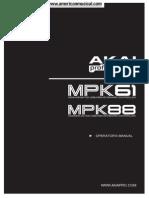 Akai Mpk61 Mpk88 Manual
